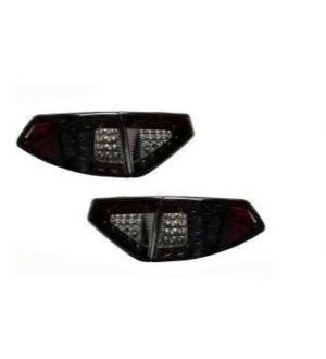Valenti Jewel LED Tail Light Light Smoke Lens w/ Black Chrome Reflector Subaru WRX/STI Hatchback 2008-2014
