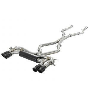 aFe MACH Force-Xp 3.5in. 304 SS C/B Exhaust System 15-18 BMW X5 M (F85) V8-4.4L (tt) - Black Tip