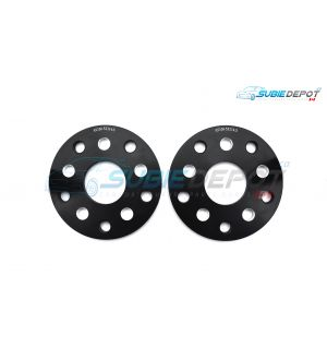 FT86MS Hub Centric Wheel Slip-on Spacers 10mm 5x100 or 5x114.3 PAIR - BLK - 13+ FR-S/BRZ/86