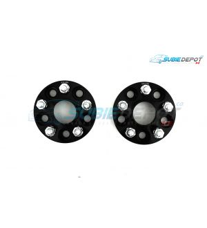 FT86MS Hub Centric Wheel Bolt-on Spacers 35mm 5x100 PAIR - BLK - 13+ FR-S/BRZ/86