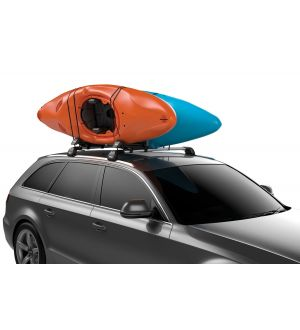 Thule Hull-A-Port XT Lockable Kayak Rack (Up to 2 Kayaks) - Black