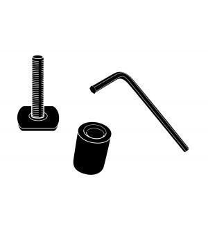 Thule Adapter Kit - T-Track Accessory Kit for All Thule Aluminum Bars - Black