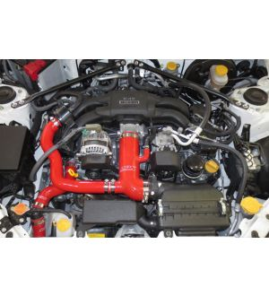 HPS PERFORMANCE AIR INTAKE KIT WITH REINFORCED SILICONE POST MAF HOSE + SOUND TUBE 2PC KIT 2013-2020 FRS / BRZ / 86 - Red