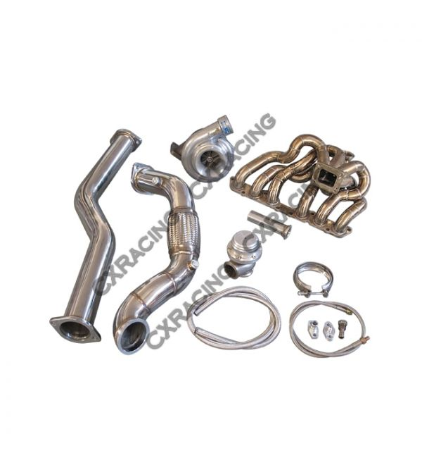 CX Racing GT35 T4 Turbo Kit Manifold Downpipe For 98-05 Lexus IS300 2JZ-GE  NA-T Bolt On