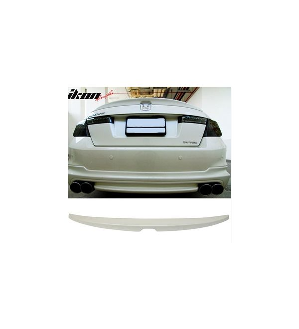 For Honda Accord 4Dr 08-12 Trunk Rear Spoiler Painted WHITE DIAMOND NH603P
